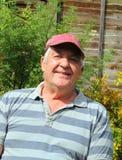 Plan rapproché d'un vieil homme heureux. Photo libre de droits