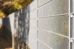 Plan rapproché d'une barrière en métal Photographie stock libre de droits
