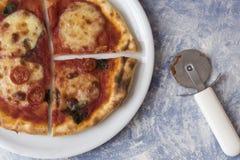 Plan rapproché d'une margarita de pizza photographie stock