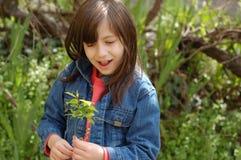 Plan rapproché d'une petite fille Photo stock