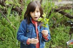Plan rapproché d'une petite fille Photographie stock