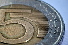 Plan rapproché d'une pièce de monnaie Images stock