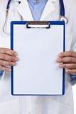 Plan rapproché d'une planchette avec le copyspace blanc Photographie stock