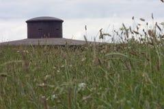 Plan rapproché d'une tourelle de mitrailleuse sur le fort Douaumont Images libres de droits