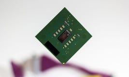 Plan rapproché d'unité centrale de traitement pour le fond de blanc de PC et d'ordinateur portable photographie stock