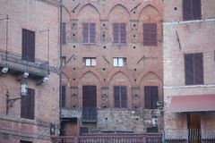 Plan rapproché de bâtiment, Sienne, Italie Images libres de droits