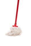 Plan rapproché de balai rouge pour le nettoyage Photo stock