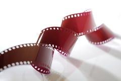 Plan rapproché de bande de film de 35mm Image libre de droits