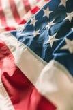Plan rapproché de bannière étoilée de drapeau américain Photo libre de droits