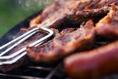 Plan rapproché de barbecue Images libres de droits