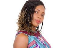 Plan rapproché de beau visage africain Photographie stock
