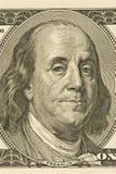 Plan rapproché de Ben Franklin Photographie stock libre de droits