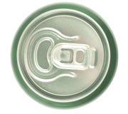 Plan rapproché de bidon en aluminium image stock