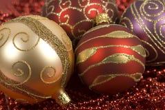 Plan rapproché de billes de Noël Images libres de droits