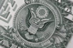 Plan rapproché de billet d'un dollar des Etats-Unis Images stock