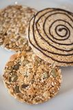 Plan rapproché de biscuits d'écrou Photographie stock
