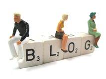 Plan rapproché de blog Photo stock