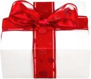 Plan rapproché de boîte-cadeau pour le Saint Valentin dessus Images stock
