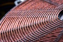 Plan rapproché de bobine d'en cuivre d'appareil de chauffage d'induction Image stock