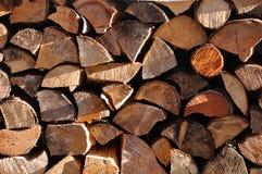 Plan rapproché de bois de chauffage Photos libres de droits