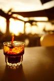 Plan rapproché de boisson image stock