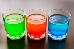 Plan rapproché de boissons non alcoolisées Images libres de droits