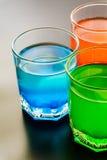 Plan rapproché de boissons non alcoolisées Photographie stock