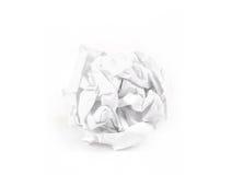 Plan rapproché de boule de papier chiffonnée photographie stock