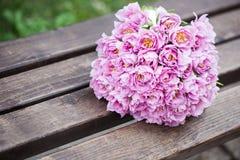 Plan rapproché de bouquet de mariage Image libre de droits