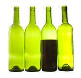 Plan rapproché de bouteilles de vin Image libre de droits
