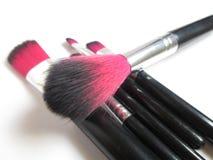 Plan rapproché de brosse de poudre Photo stock