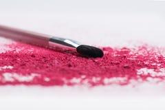 Plan rapproché de brosse professionnelle de maquillage avec Image libre de droits