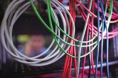 Plan rapproché de câble et de fils Photos stock