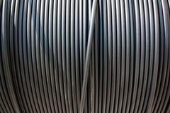 Plan rapproché de câble noir de l'électricité Photo libre de droits