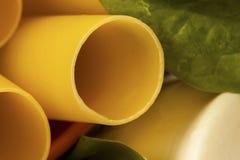 Plan rapproché de Cannelloni, de ricotta et d'épinards Photos stock