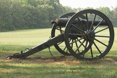 Plan rapproché de canon de guerre civile Images stock