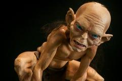 Plan rapproché de caractère de Gollum du seigneur des anneaux à la convention de Cosplay photographie stock libre de droits