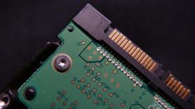 Plan rapproché de carte électronique, HDD 4k UHD banque de vidéos