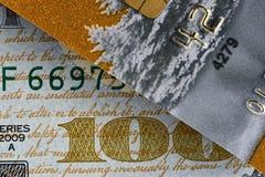 Plan rapproché 10 de carte de crédit Images stock