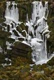 Plan rapproché de cascade glacée à Kassel, Allemagne Photographie stock libre de droits