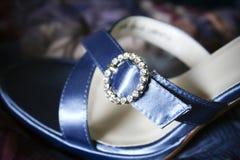 Plan rapproché de chaussure de demoiselle d'honneur Image libre de droits