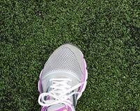 Plan rapproché de chaussures de course de filles de femme Photo libre de droits