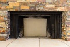 Plan rapproché de cheminée en pierre Photo stock