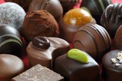 Plan rapproché de chocolats Photos stock