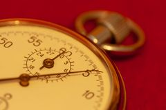 Plan rapproché de chronomètre de cru image stock