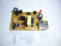 Plan rapproché de circuit électronique Photographie stock