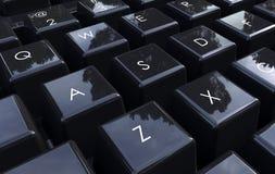 Plan rapproché de clavier d'ordinateur illustration de vecteur