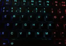 Plan rapproché de clavier multicolore photographie stock
