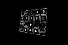Plan rapproché de clavier numérique noir de trappe de garantie Image stock