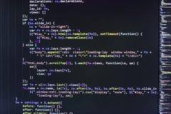 Plan rapproché de code de Java Script, de CSS et de HTML image stock